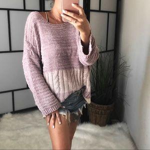 Sweaters - 🆕 CIRA Chenille Block Stripe Pullover Sweater